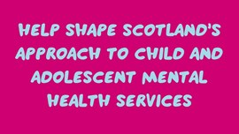 Help shape young people's mental health services