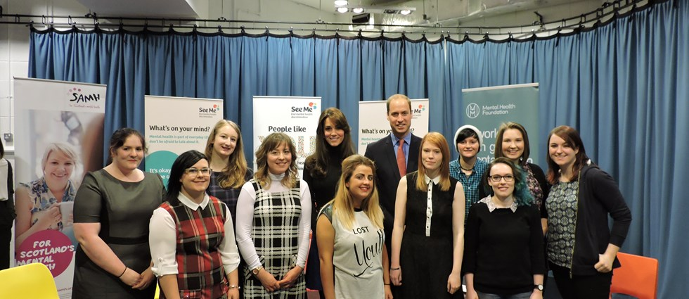 Young people with Prince William and Kate Middleton